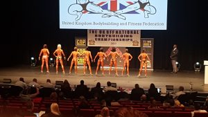 Bikini competition back pose