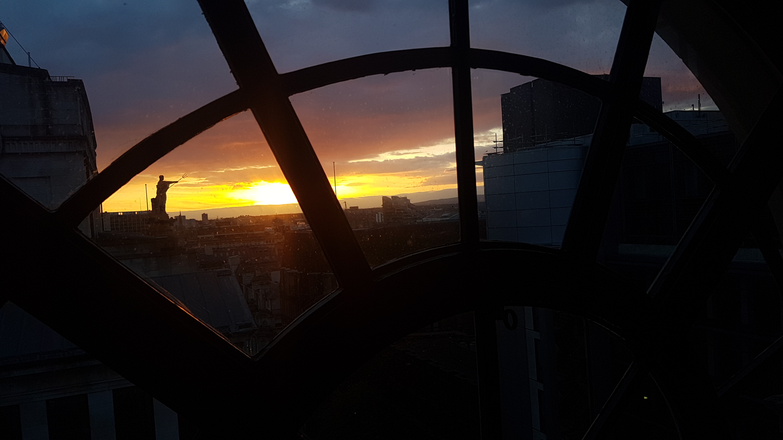 Sunset views of Manchester from Honey restaurant