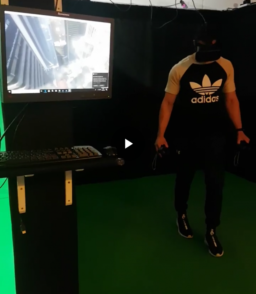 virtual reality jumping off a building