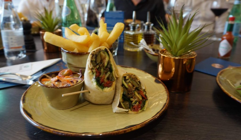 Vegetarian Wrap off Juniper Hale Lunch Menu